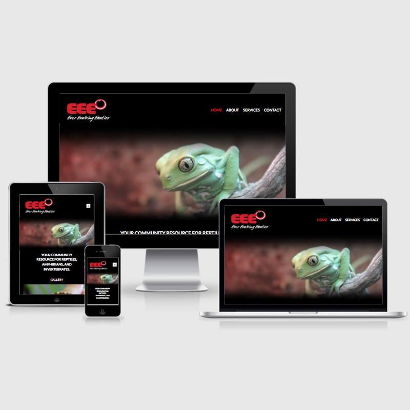 eee exotics animals new website design usability mobile desktop tablet image