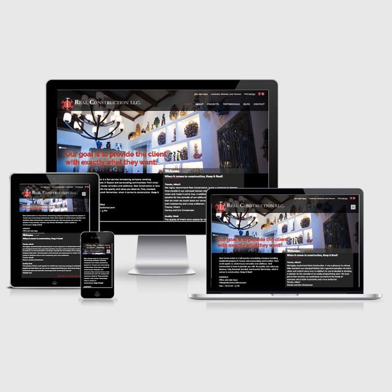 real construction new website design usability mobile desktop tablet image