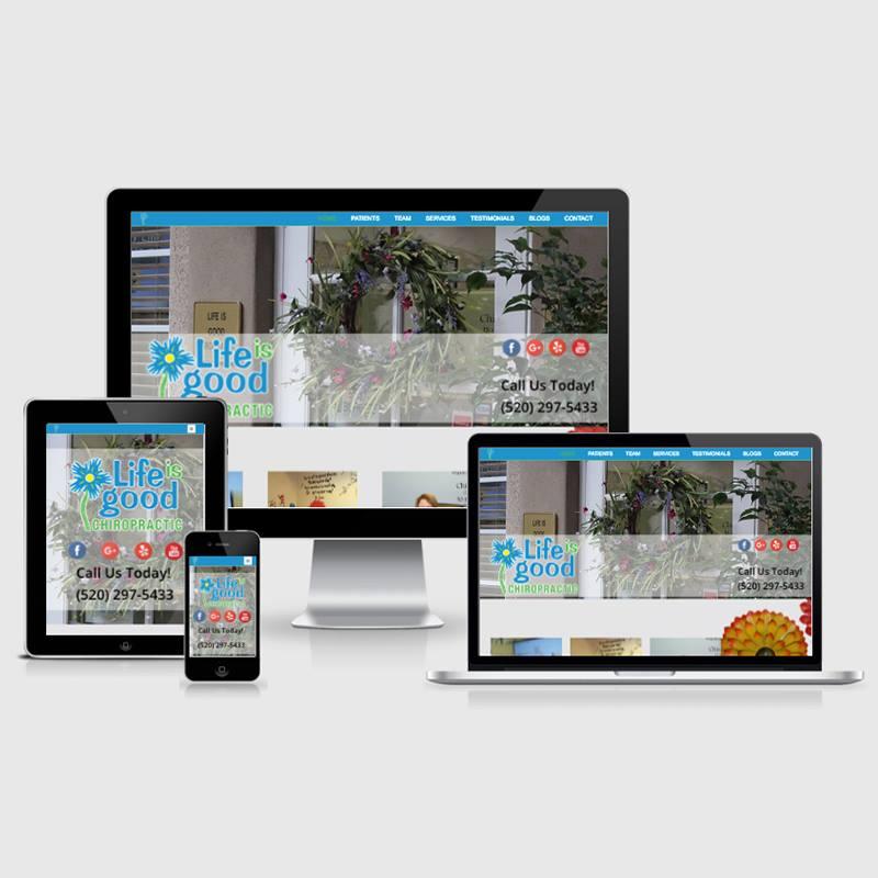life is good chiropractic new website design usability mobile desktop tablet image