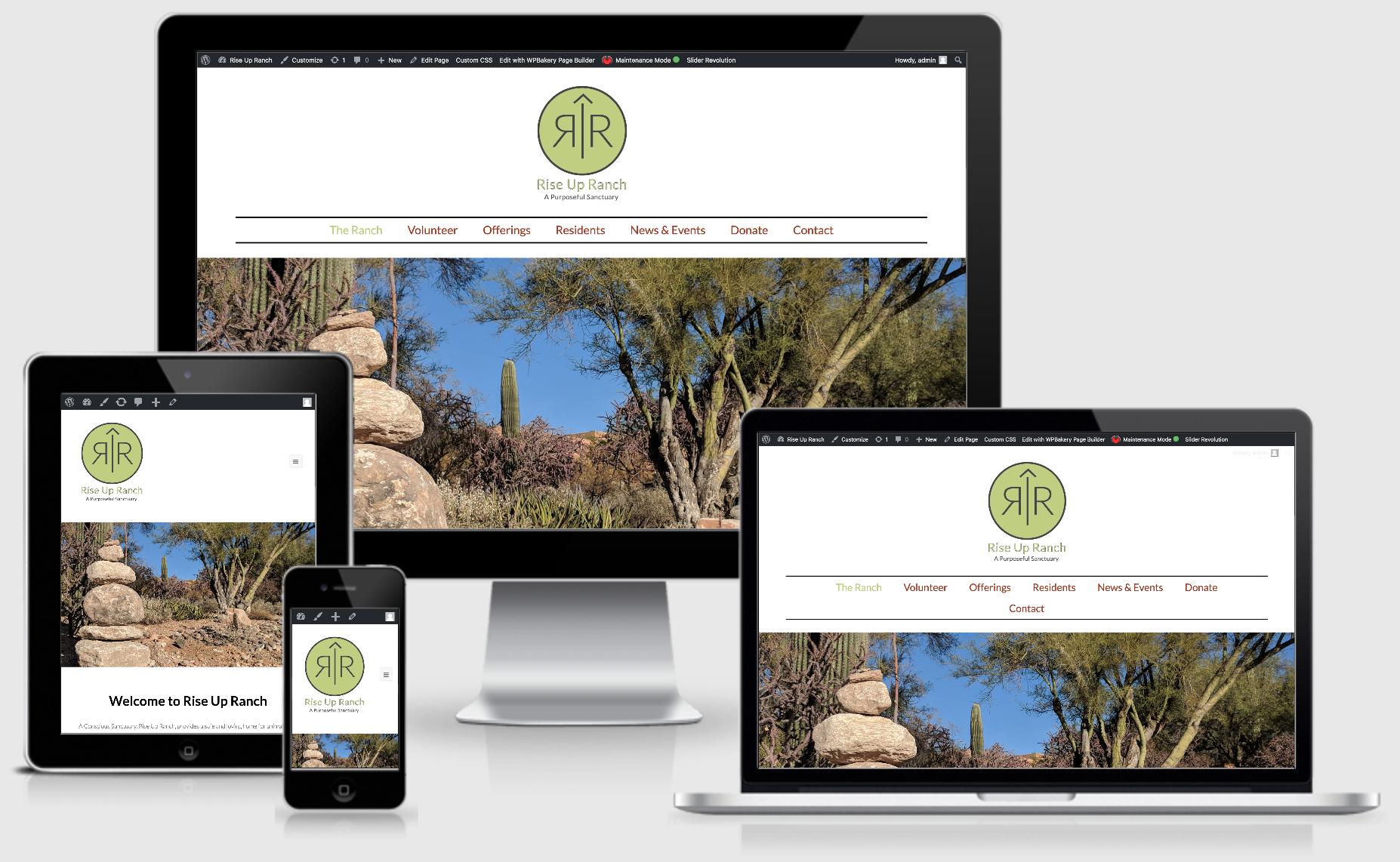 rise up website design responsive image