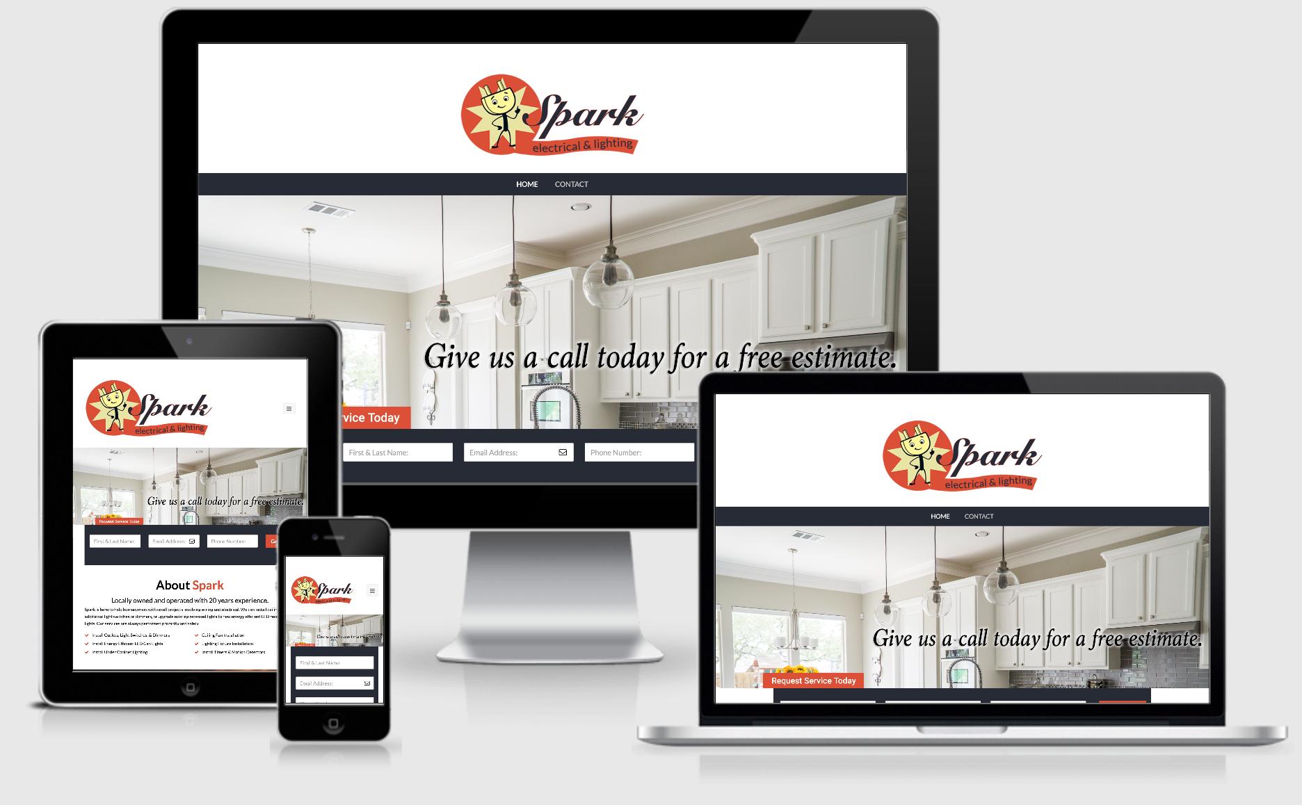spark electrical responsive website design image