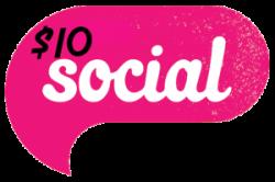 10 dollar social logo transparent