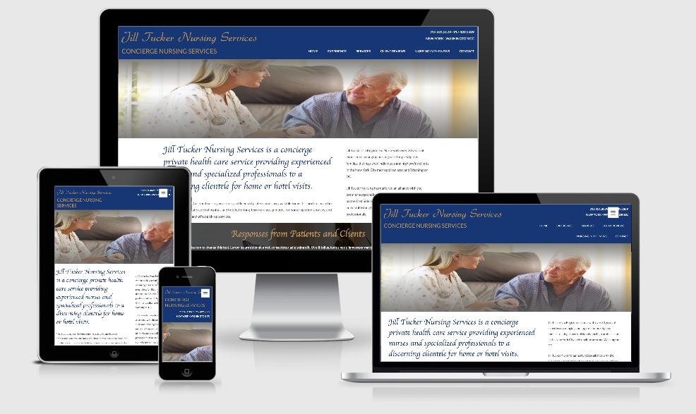 jill tucker nursing Website Design