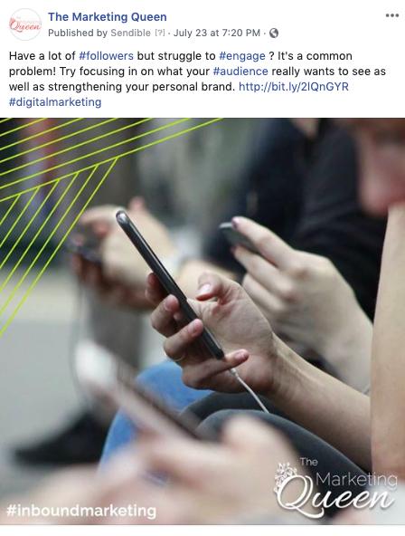 social media business social media post