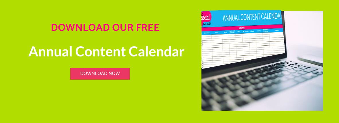 annual content calendar graphic image