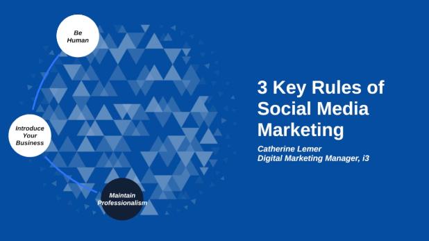 3 Key Rules Of Social Media Marketing Image