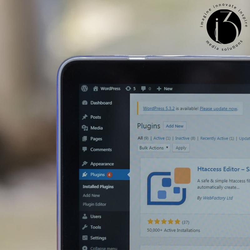 Wordpress On A Laptop Image