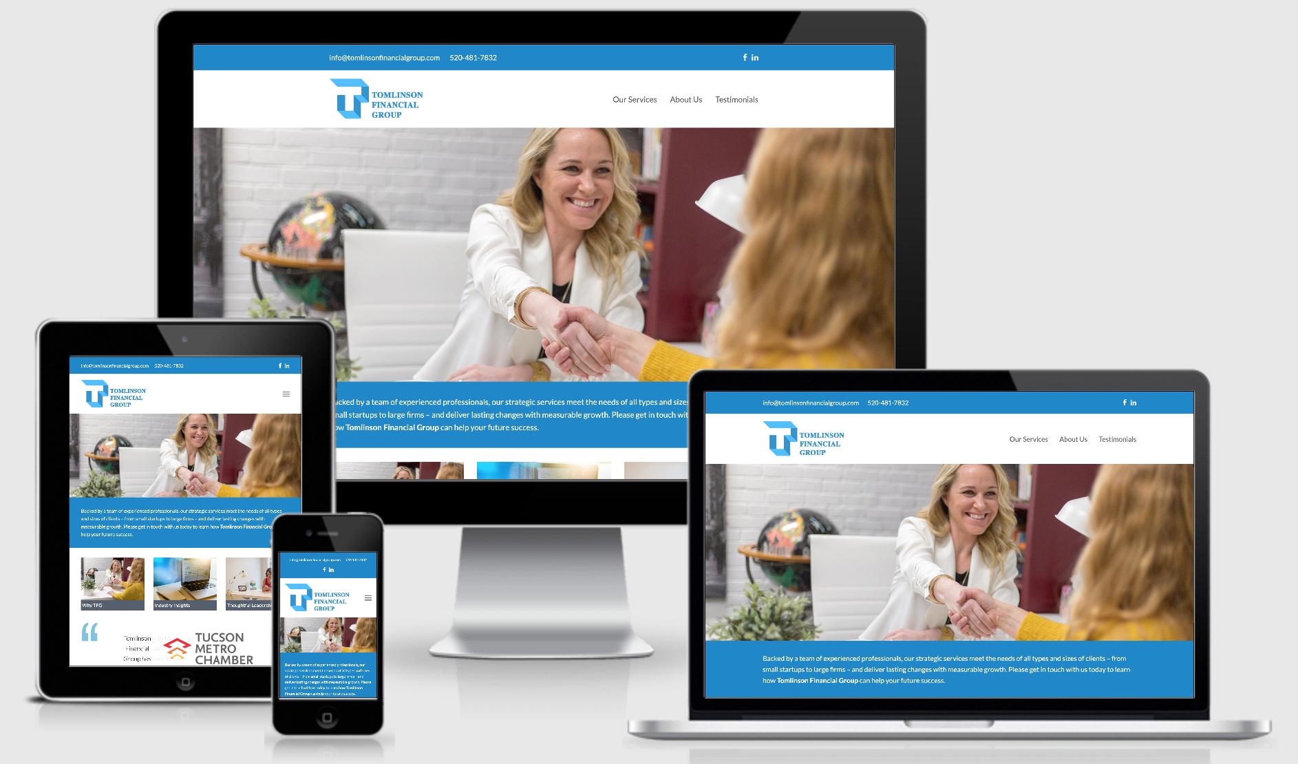 Tomlinson Financial Group Website design example