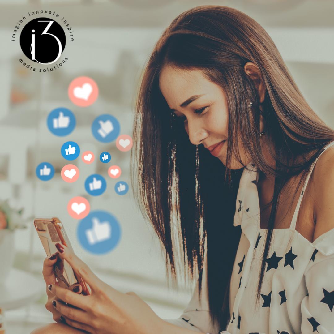 Woman On Phone Using Social Media Image