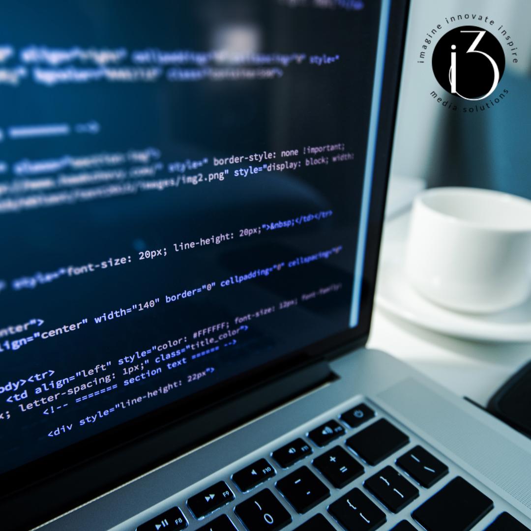 Website Maintenance Code On Laptop Image